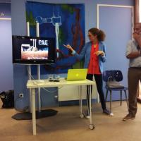 Alicia Milne and Luis Vasquez La Roche presentation at Centre for Visual Arts (CBK Zuidoost) © Sasha Dees