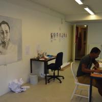Luis Vasquez La Roche at the studio space © Alicia Milne and Luis Vasquez La Roche