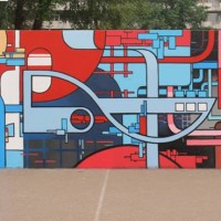 Mural in collaboration with Mick La Rock © ZEDZ Mick La Rock