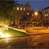 Gallery on Arsenalna Square (2012). Lviv Contemporary Art Week © Open Group